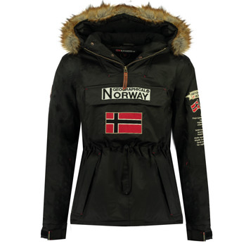 Textiel Jongens Parka jassen Geographical Norway BARMAN BOY Zwart