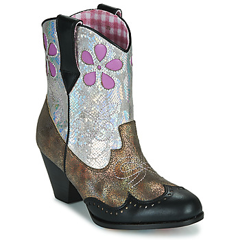 Schoenen Dames Laarzen Irregular Choice POLLYWOOD Bruin / Zilver