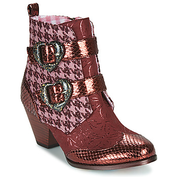 Schoenen Dames Laarzen Irregular Choice TOO HEARTS Bordeau