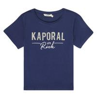 Textiel Meisjes T-shirts korte mouwen Kaporal MAPIK Marine