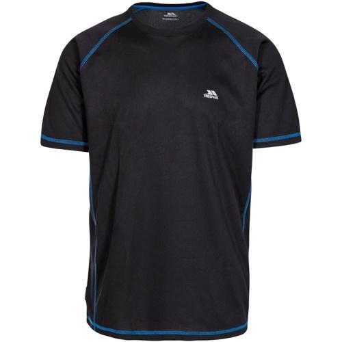 Textiel Heren T-shirts korte mouwen Trespass Albert Zwart/Zwart