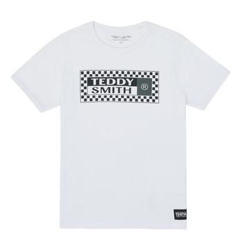 Textiel Jongens T-shirts korte mouwen Teddy Smith VANY Wit