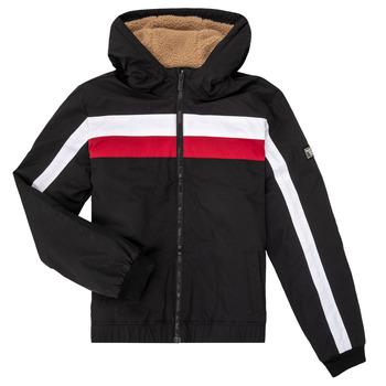 Textiel Jongens Wind jackets Teddy Smith BROCK Zwart