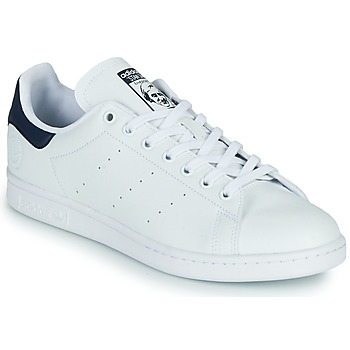 Schoenen Lage sneakers adidas Originals STAN SMITH VEGAN Wit / Blauw