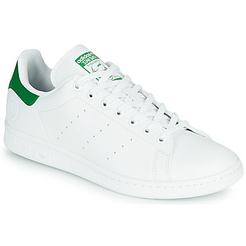 Schoenen Lage sneakers adidas Originals STAN SMITH VEGAN Wit / Groen