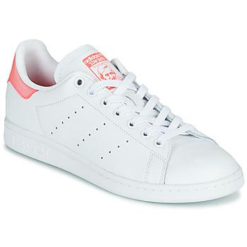 Schoenen Dames Lage sneakers adidas Originals STAN SMITH W Wit / Roze