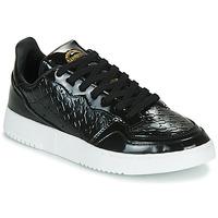 Schoenen Dames Lage sneakers adidas Originals SUPERCOURT W Zwart / Lak