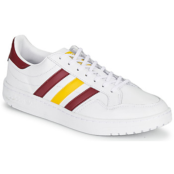Schoenen Lage sneakers adidas Originals TEAM COURT Wit / Bordeau / Geel
