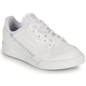 Schoenen Meisjes Lage sneakers adidas Originals CONTINENTAL 80 C Wit / Regenboog