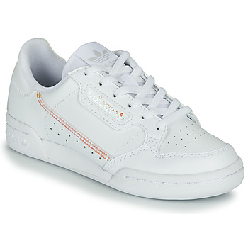 Schoenen Meisjes Lage sneakers adidas Originals CONTINENTAL 80 J Wit / Regenboog