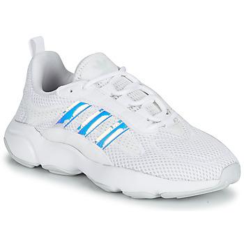 Schoenen Meisjes Lage sneakers adidas Originals HAIWEE J Wit / Regenboog