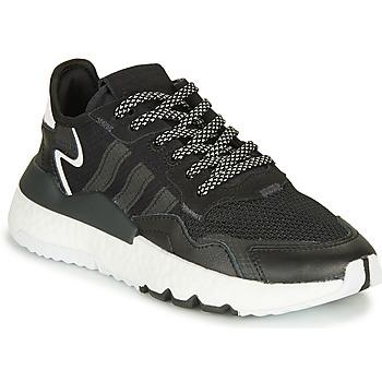 Schoenen Kinderen Lage sneakers adidas Originals NITE JOGGER J Zwart