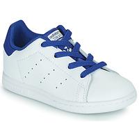 Schoenen Jongens Lage sneakers adidas Originals STAN SMITH EL I Wit / Blauw
