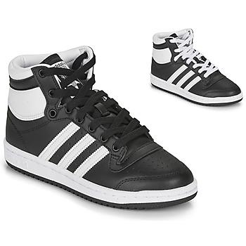 Schoenen Kinderen Hoge sneakers adidas Originals TOP TEN J Zwart / Wit