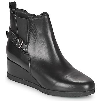 Schoenen Dames Enkellaarzen Geox ANYLLA WEDGE Zwart
