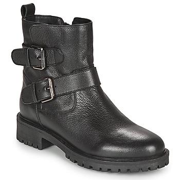 Schoenen Dames Enkellaarzen Geox HOARA Zwart