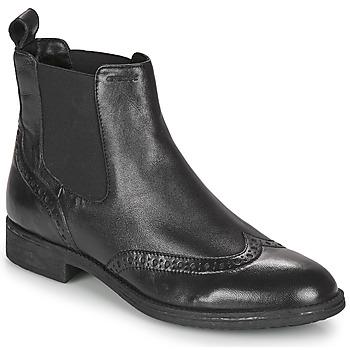 Schoenen Dames Enkellaarzen Geox JAYLON Zwart