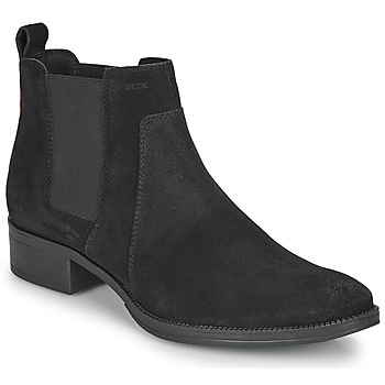 Schoenen Dames Enkellaarzen Geox LACEYIN Zwart