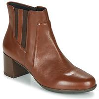 Schoenen Dames Enkellaarzen Geox NEW ANNYA MID Bruin