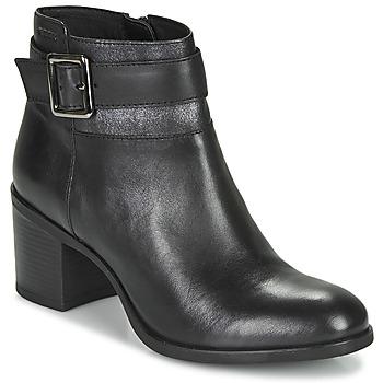 Schoenen Dames Enkellaarzen Geox NEW ASHEEL Zwart