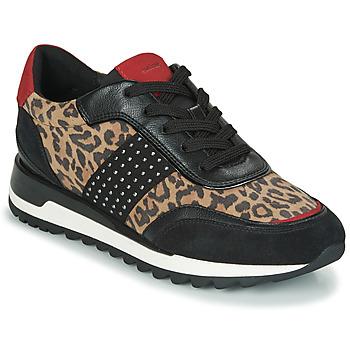 Schoenen Dames Lage sneakers Geox TABELYA Luipaard / Zwart