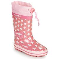 Schoenen Meisjes Regenlaarzen Kangaroos K-RAIN Roze