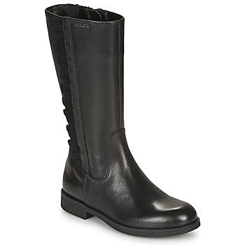 Schoenen Meisjes Hoge laarzen Geox AGGATA Zwart