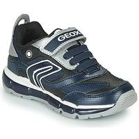 Schoenen Jongens Lage sneakers Geox ANDROID Marine / Zilver