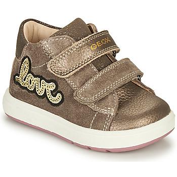 Schoenen Meisjes Laarzen Geox BIGLIA Bruin
