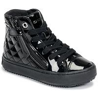 Schoenen Meisjes Hoge sneakers Geox KALISPERA Zwart