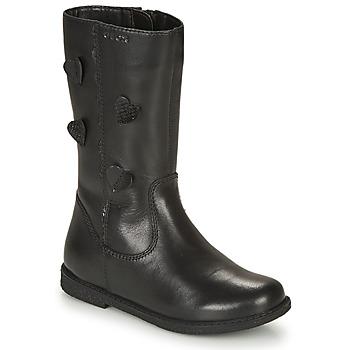 Schoenen Meisjes Hoge laarzen Geox SHAWNTEL Zwart