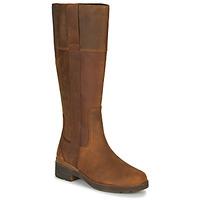 Schoenen Dames Hoge laarzen Timberland GRACEYNTALLSIDEZIPWP Bruin