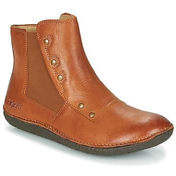 Schoenen Dames Laarzen Kickers HAPPLI Bruin