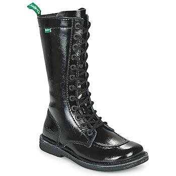 Schoenen Dames Hoge laarzen Kickers MEETKIKNEW Zwart / Lak