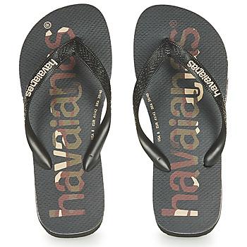 Schoenen Teenslippers Havaianas Top Logomania Zwart