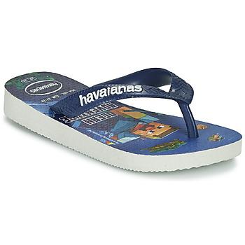 Schoenen Jongens Teenslippers Havaianas KIDS MINECRAFT Blauw