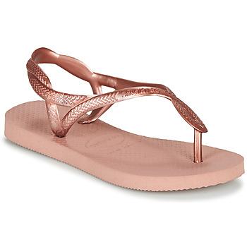Schoenen Meisjes Teenslippers Havaianas LUNA MINI ME Roze