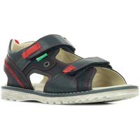 Schoenen Jongens Sandalen / Open schoenen Kickers Pepper Blauw