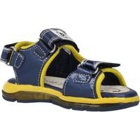 Schoenen Jongens Sandalen / Open schoenen Geox B SANDAL TODO BOY Blauw