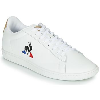 Schoenen Heren Lage sneakers Le Coq Sportif COURTSET Wit / Cognac