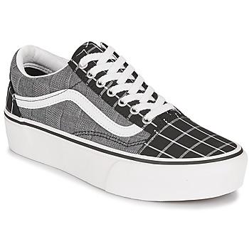 Schoenen Dames Lage sneakers Vans OLD SKOOL PLATFORM Grijs