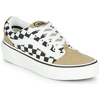 Schoenen Dames Lage sneakers Vans SHAPE NI Beige / Wit