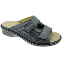 Schoenen Dames Leren slippers Calzaturificio Loren LOM2824bl blu