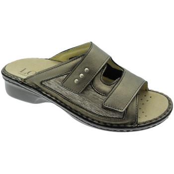 Schoenen Dames Leren slippers Calzaturificio Loren LOM2824br tortora