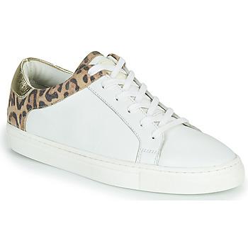Schoenen Dames Lage sneakers Les Tropéziennes par M Belarbi LOUANE Wit / Luipaard