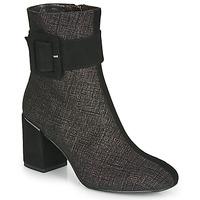 Schoenen Dames Enkellaarzen Perlato JAMIROCK Zwart