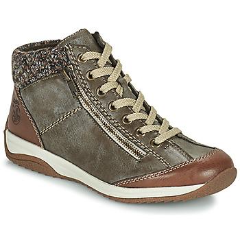 Schoenen Dames Laarzen Rieker L5223-24 Bruin