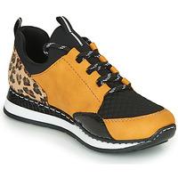 Schoenen Dames Lage sneakers Rieker N3083-68 Cognac / Zwart