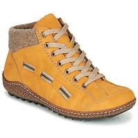 Schoenen Dames Laarzen Rieker L7543-69 Geel