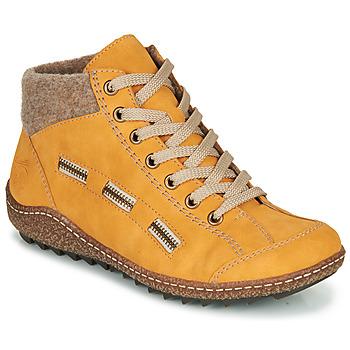 Schoenen Dames Laarzen Rieker  Geel